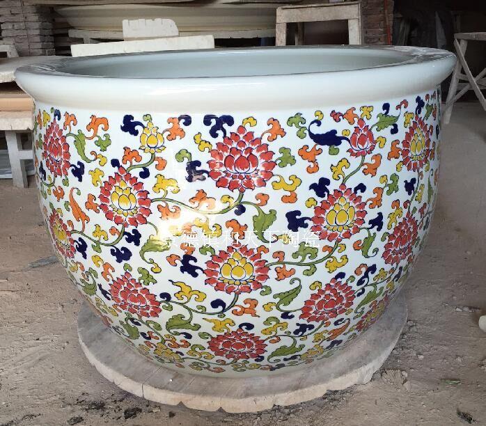 景德镇陶瓷汗蒸缸 麦饭石能量晶片活瓷养生缸