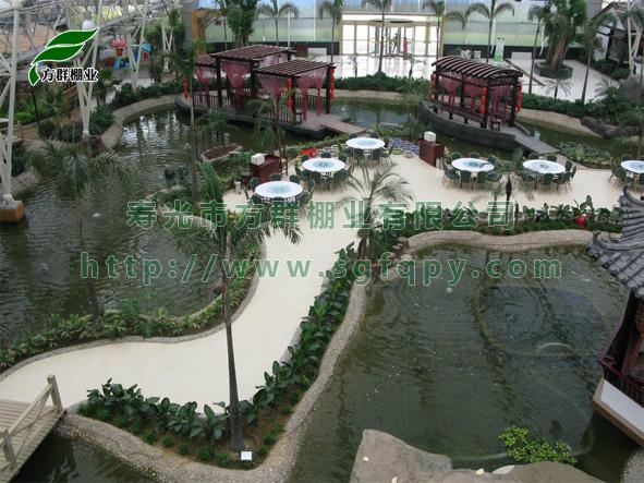 生态餐厅设计施工,观光农业大棚