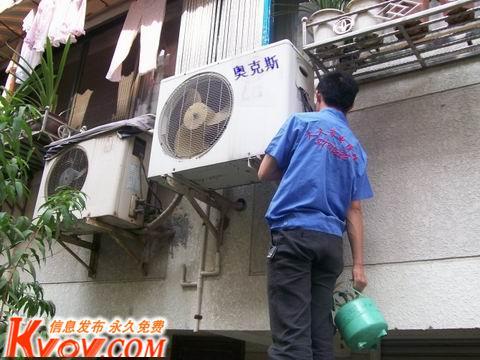 奥克斯柜式空调外机电容接线