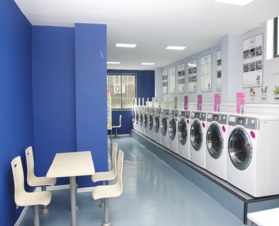 LG自助洗衣机在酒店