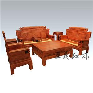 清末明初缅甸花梨沙发正在热销中 手工雕刻仿古做工