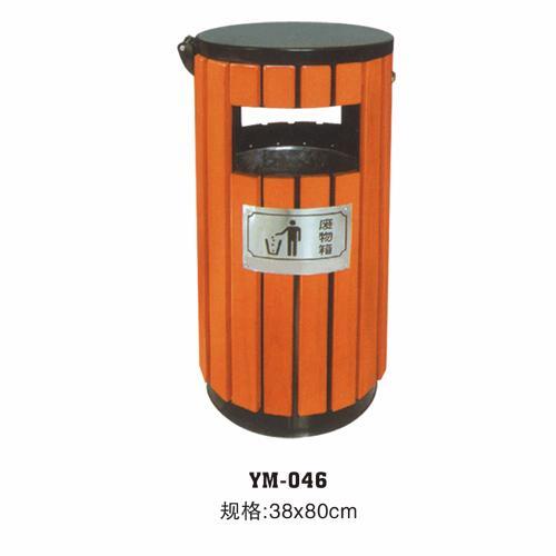 海南钢木垃圾桶,有美工贸有口皆碑
