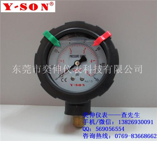 PP隔膜压力表、东莞奕伸仪表厂家直销、PP隔膜压力表价格