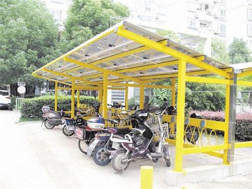 交通设施 膜结构车棚 小区电动自行车充电棚 手机版  义乌梓昂膜结构