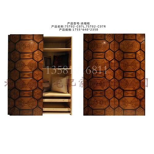 欧式新古典衣柜实木客厅家具样板房法式衣柜
