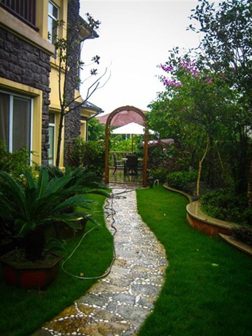 武隆别墅花园,金汉宫园林景观公司,别墅花园喷泉