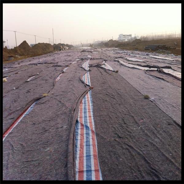 厂家供应公路养护用黑心棉 保温棉毡毛毡