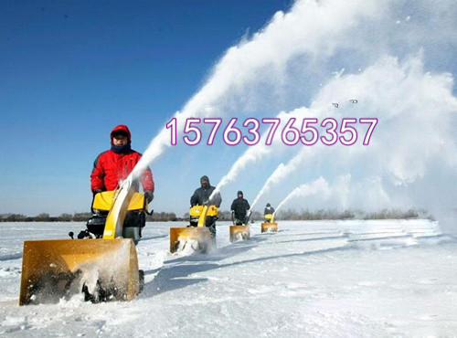 林芝浩鸿毛刷式扫雪机电启动大马力除雪机街道吹雪机销售行业领先