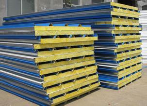 供甘肃陇西彩钢岩棉板和天水彩钢复合板