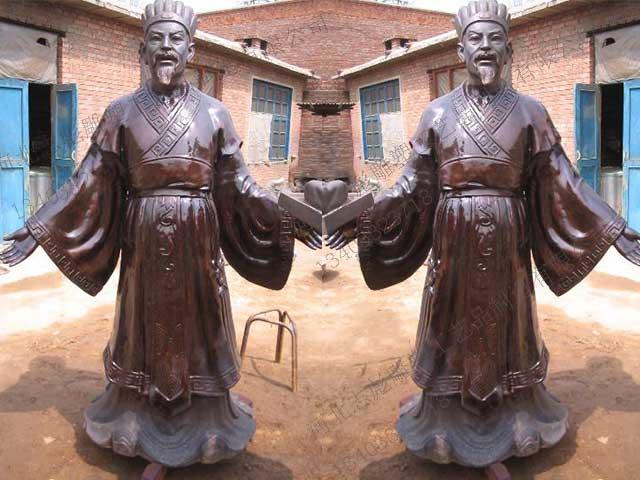 古人铜雕高清素材