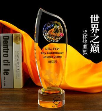 广州水晶奖杯厂家,水晶奖杯定做,表彰大会奖品定做
