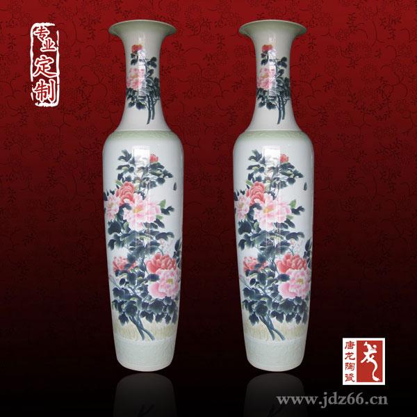 景德镇客厅落地大花瓶批发,陶瓷花瓶大小