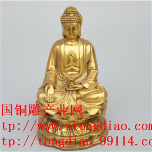 佛像厂家精加工新款特卖鎏金铜雕工艺品摆件