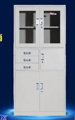 常州办公家具厂家直销偏三斗文件柜铁皮柜器械柜资料柜档案柜凭证柜办公柜带锁