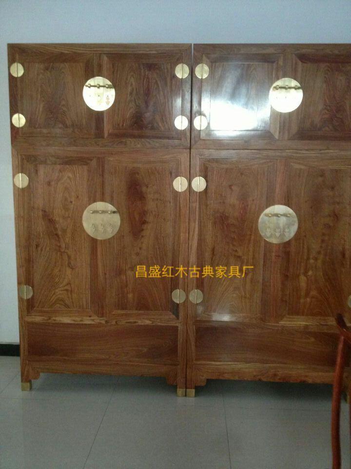花梨木衣柜价格 红木顶箱柜衣橱厂家 河北红木家具厂家