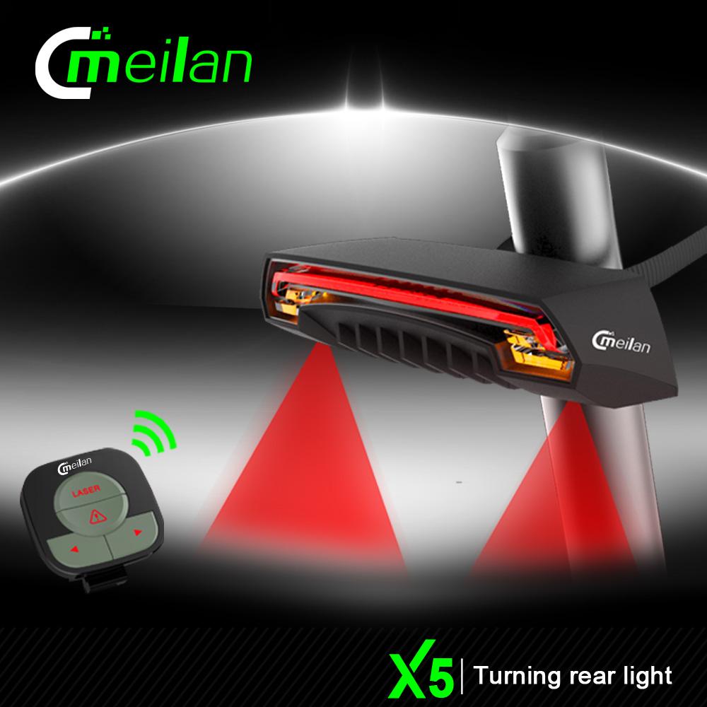 深圳魅蓝自行车尾灯供应厂家直销Meilan X5自行车转向镭射尾灯