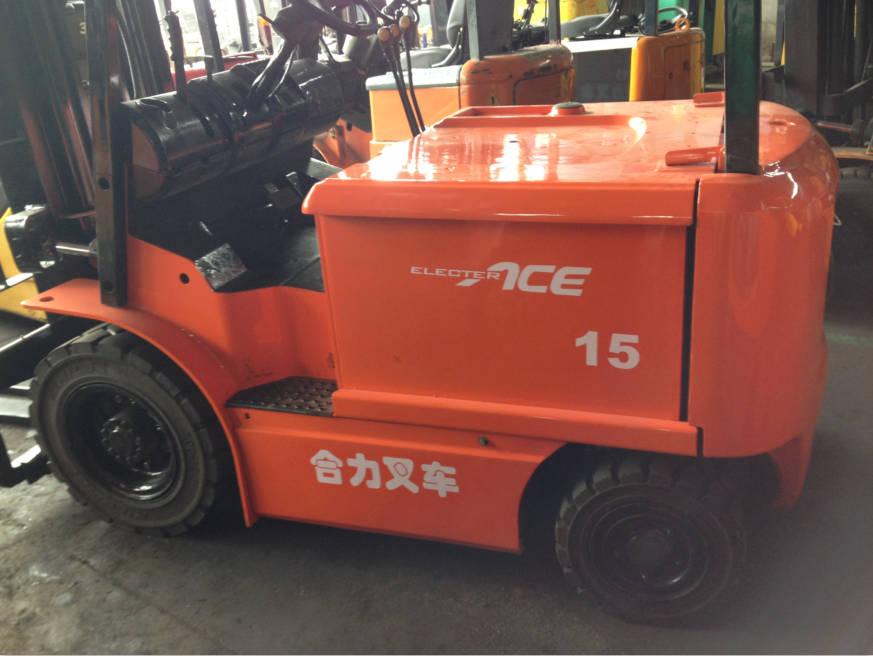 二手叉车市场直销 正品合力1.5吨电动叉车 带平移