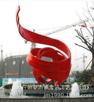 大型标记圆雕 玻璃钢抽象雕塑