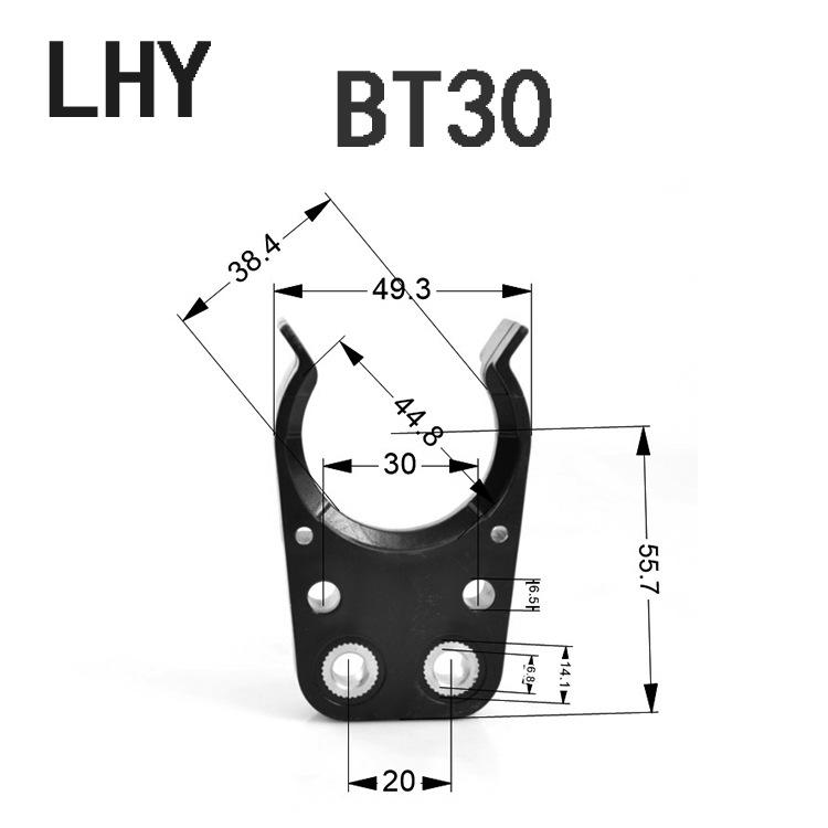 大量供应黑色刀夹 BT30/ISO20/ISO25/ISO30刀夹