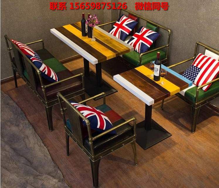 厂家直销欧美工业风格餐厅桌椅 价格优惠