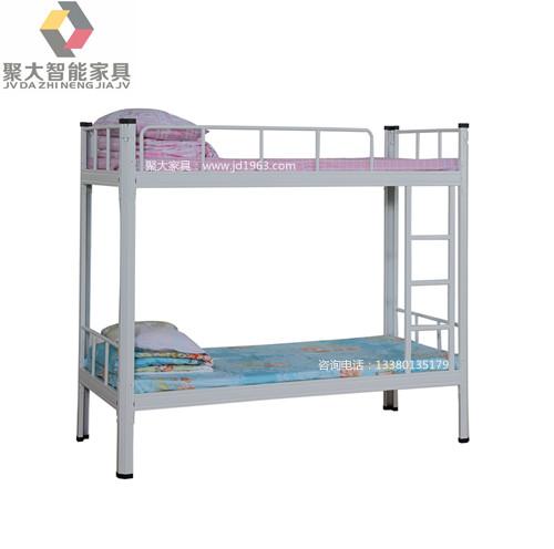 平凉双层铁床 平凉上下铺铁床批量 经久耐用 聚大家具