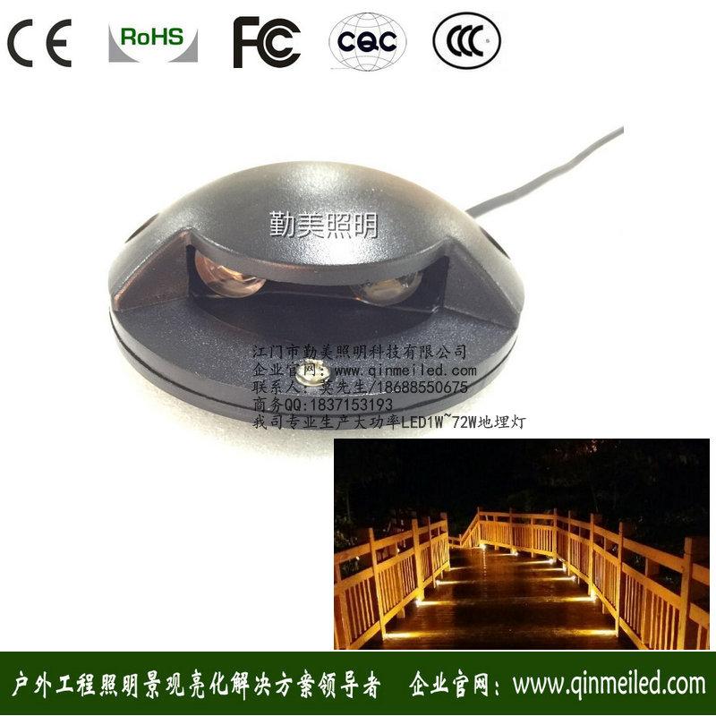 圆形超薄LED侧出光地面射灯
