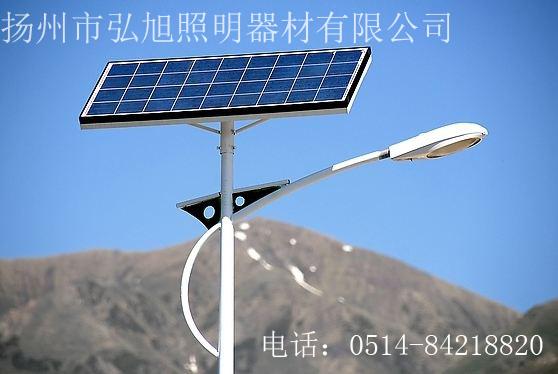 扬州弘旭照明有限公司销售6米太阳能路灯LED路灯亮化工程