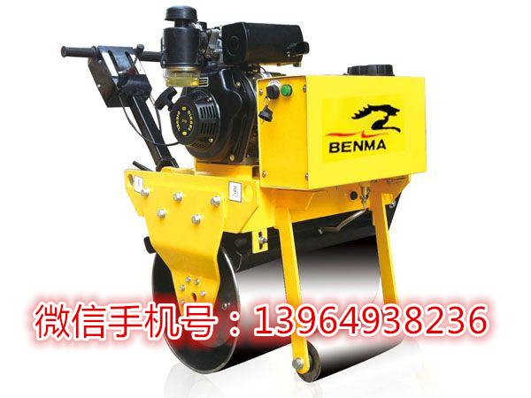 用加厚钢轮生产手扶单轮压路机 轮宽600 700的手