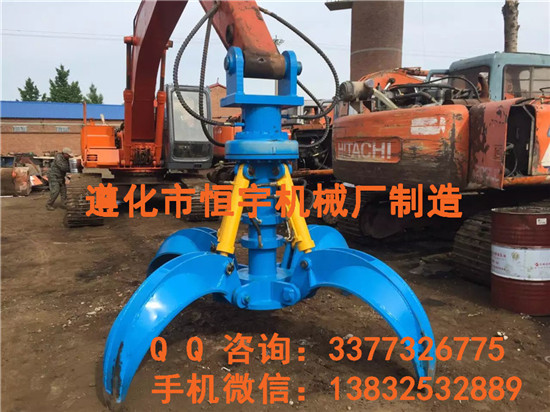 液压抓钢机特征液压抓铁机型号 规格