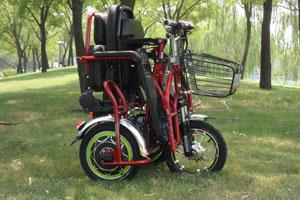 折叠电动三轮车 老年代步车 残疾人三轮车 可以进电梯三轮车