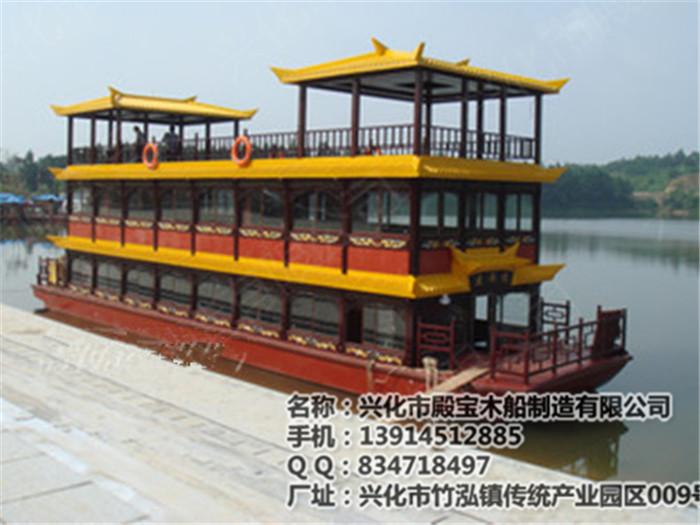 供应生产大型画舫船中式仿古船欧式手划船电动船