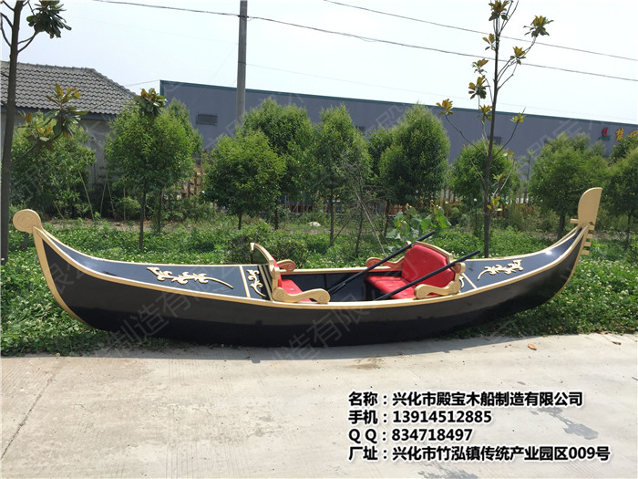 贡多拉船欧式手划船画舫中式仿古电动船