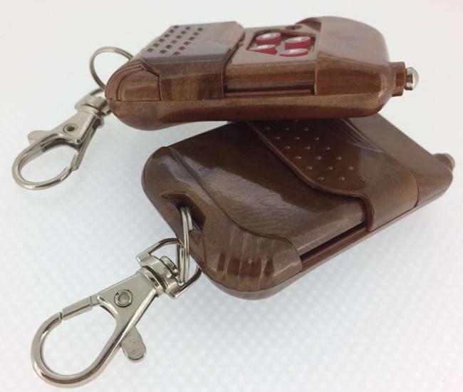 厂家批发金桃木315.、433及其他可定制频率推盖四键拷贝遥控器