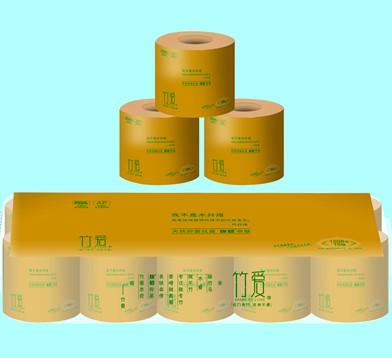 竹浆本色纸竹纤维纸巾竹爱10卷装招卫生纸代理