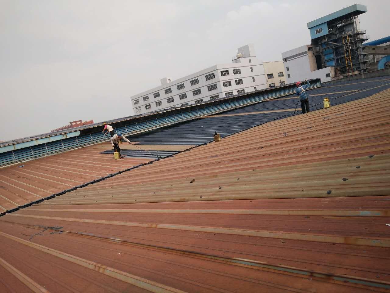 江门蓬江荷塘厂房锌铁瓦彩钢瓦防水防锈翻新补漏