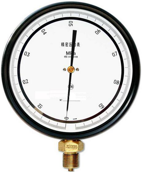 西安仪表厂铂科带镜面精密压力表0.16级精密压力表价格便宜品质保证