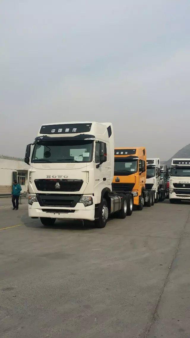中国豪沃T7H国五440马力双驱牵引车报价图片配置