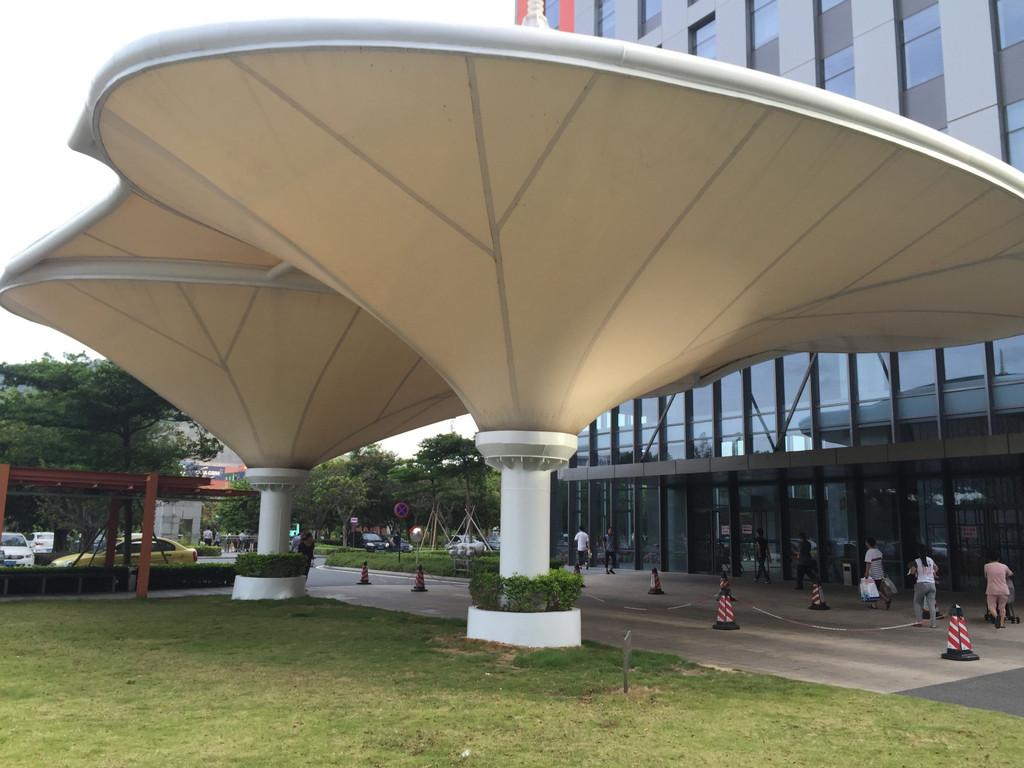 酒店出入口膜结构 酒店大门景观钢膜结构 膜结构厂家 膜结构设计 膜结构工程