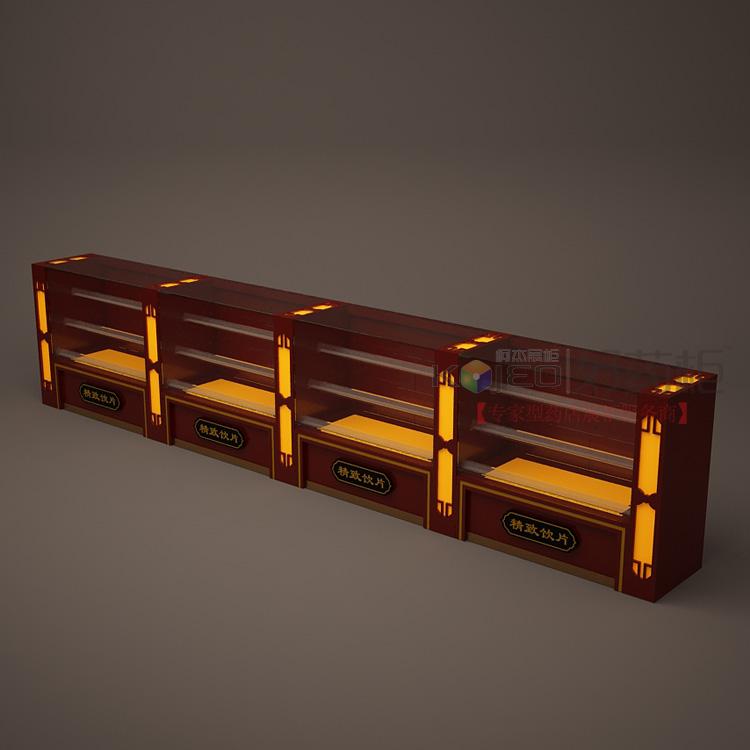 药材展示柜台 红色烤漆木制药店柜子 特价货架 中药前柜