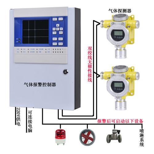 ?氮气报警器探头 24小时带显示氮气泄漏探测器
