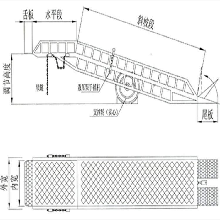厂家定做液压登车桥固定登车桥移动式登车桥6-12吨