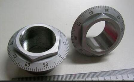 不锈钢金属件刻度盘旋转打标 刻线刻logo