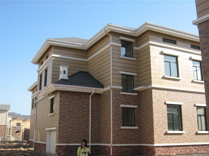 德普瑞斯别墅方形雨水管彩铝落水系统,天沟檐槽