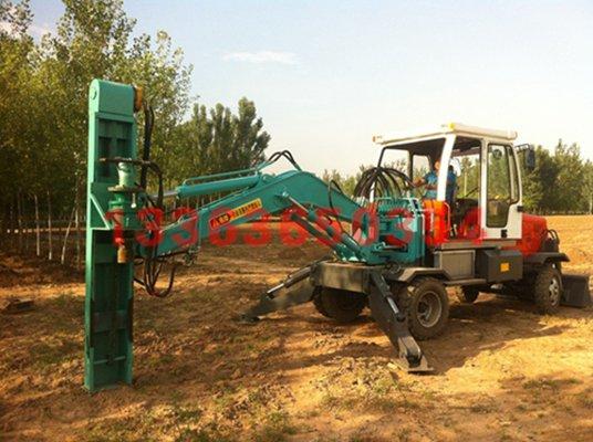 挖掘机挖坑机 挖掘机挖坑机 电线杆挖坑机验货付款
