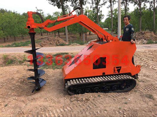 履带式打桩机 履带式全液压光伏打桩机规格 小型旋挖钻机