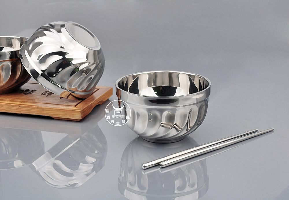 不锈钢碗双层-不锈钢碗生产厂家-瑞鑫五金制品厂