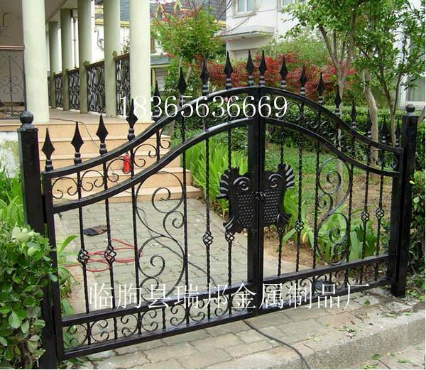 定制铁艺别墅大门进户门花园庭院大门欧式宫廷门单双入户门