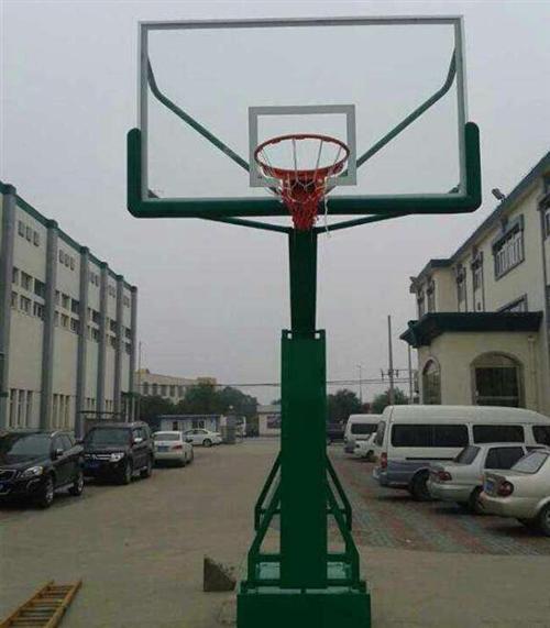 强森体育加工|广东平箱篮球架|固定式平箱篮球架
