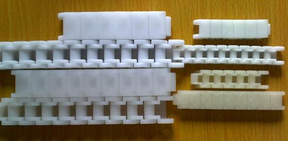 松江塑料双排链 塑料链板 加强版 不跑偏特点