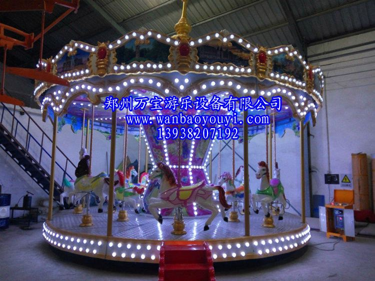 供应厂家直销2017新型游乐设备豪华转马